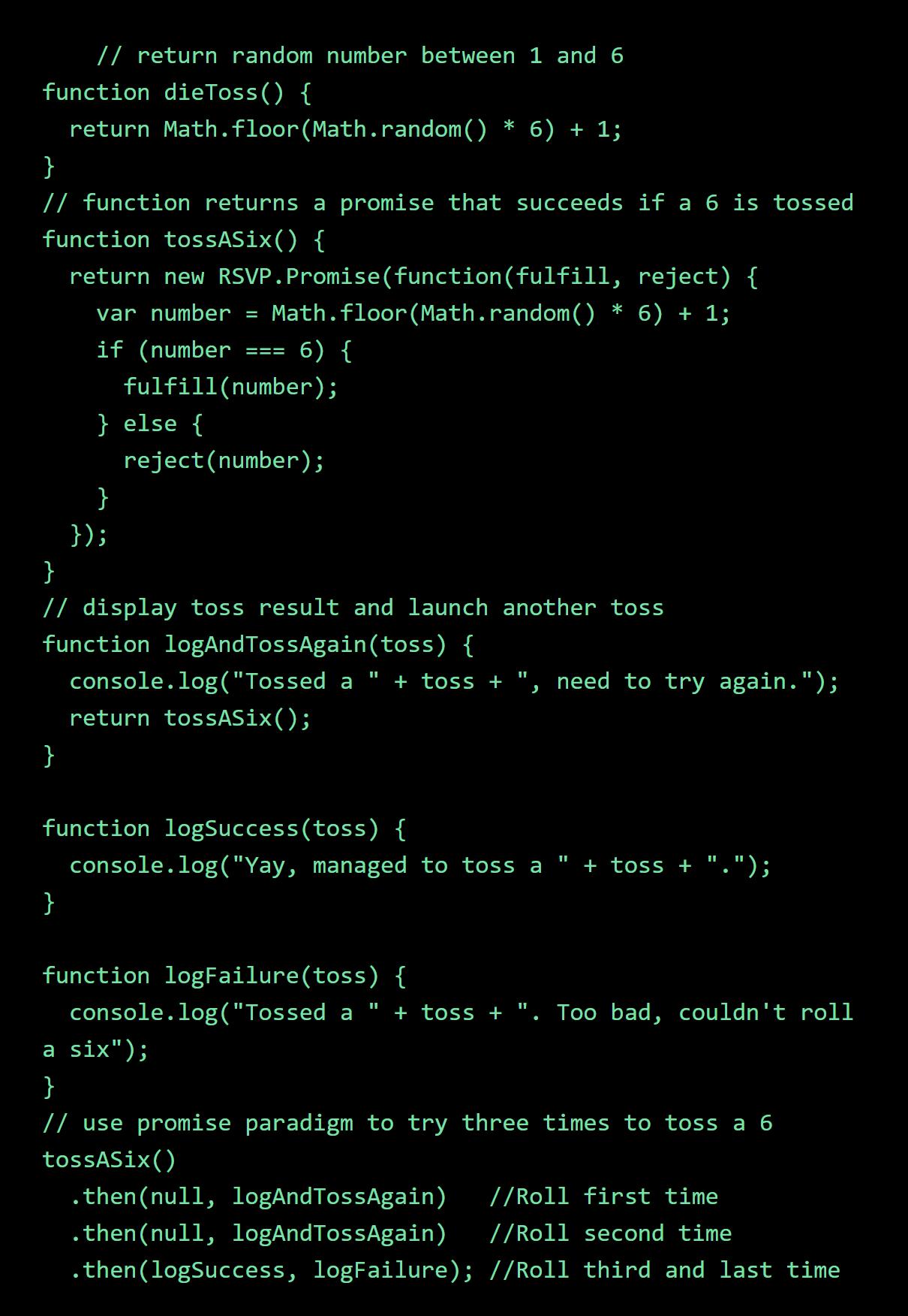JavaScript code samples